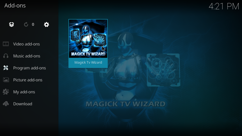 how to start download of movie from exodus kodi