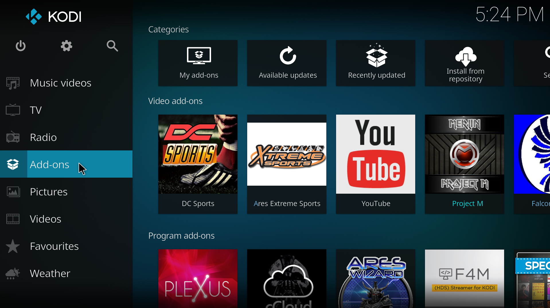 how to delete tv add ons from kodi