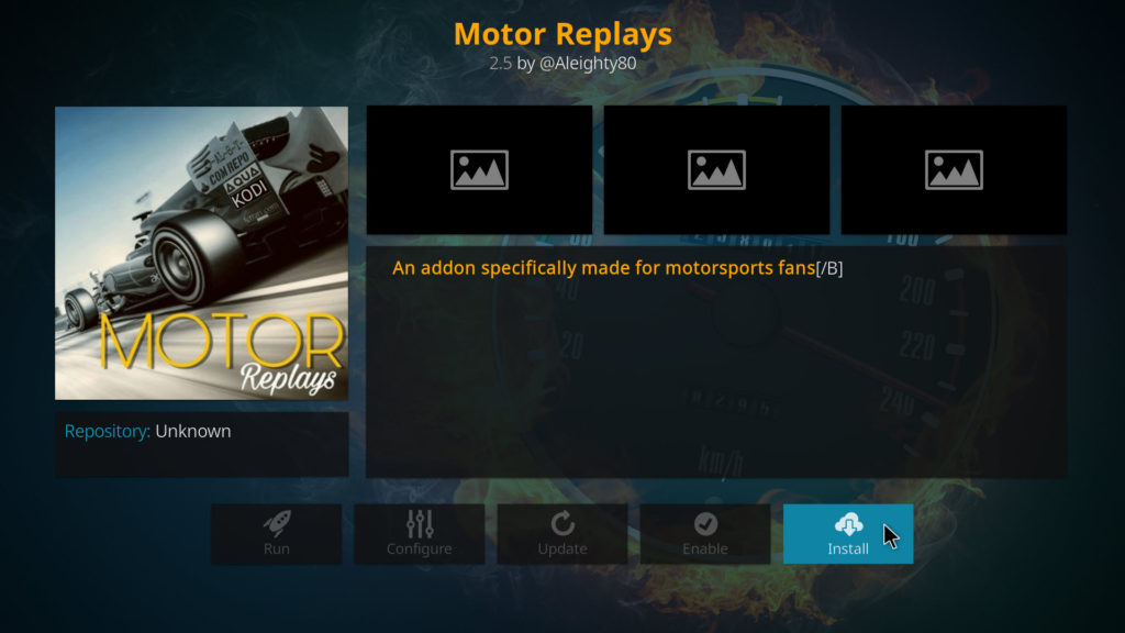 How to install motor replays add on on kodi your for Motors tv live stream